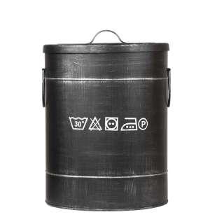 Wäschesammler in Schwarz Metall