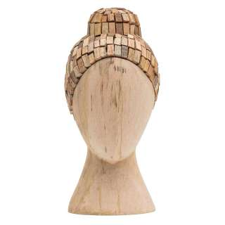 Deko Figuren aus Mangobaum Massivholz Kopf (4er Set)