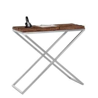 Flur Konsolentisch aus Mangobaum Treibholz und Metall 100 cm breit