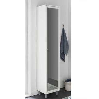 Badmidischrank in Weiß Spiegeltür
