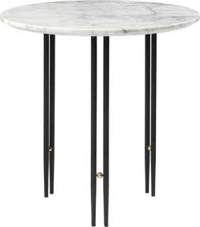 Gubi - IOI CoffeeTable Ø50 cm - Gestell schwarz - White Carrara Marble - indoor