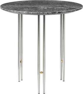 Gubi - IOI CoffeeTable Ø50 cm - Gestell verchromt - Grey Emperador Marble - indoor
