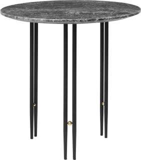 Gubi - IOI CoffeeTable Ø50 cm - Gestell schwarz - Grey Emperador Marble - indoor