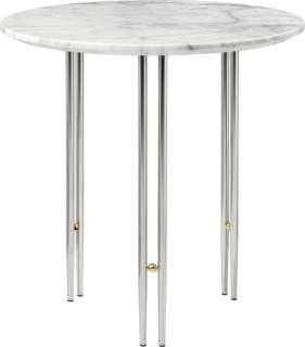 Gubi - IOI CoffeeTable Ø50 cm - Gestell verchromt - White Carrara Marble - indoor