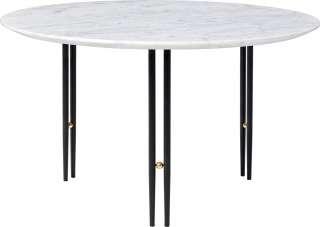 Gubi - IOI CoffeeTable Ø70 cm - Gestell schwarz - White Carrara Marble - indoor