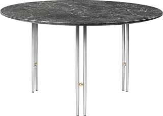 Gubi - IOI CoffeeTable Ø70 cm - Gestell verchromt - Grey Emperador Marble - indoor