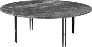 Gubi - IOI CoffeeTable Ø100 cm - Gestell schwarz - Grey Emperador Marble - indoor