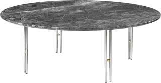 Gubi - IOI CoffeeTable Ø100 cm - Gestell verchromt - Grey Emperador Marble - indoor
