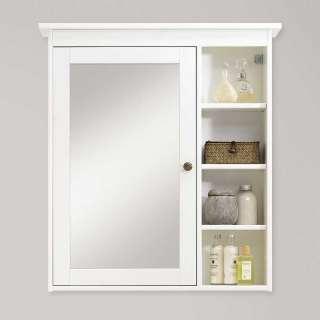 Badezimmer Spiegelschrank in Weiß lasiert Kiefer Massivholz