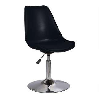 Drehbare Schalenstühle in Schwarz Kunststoff höhenverstellbar (2er Set)