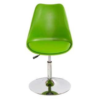 Design Schalenstühle in Grün Kunststoff höhenverstellbar (2er Set)
