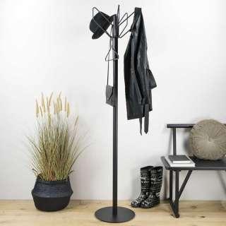 Garderobenstaender in Schwarz Stahl