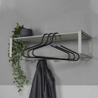 Stahl Wandgarderobe in Graugrün 70 cm breit