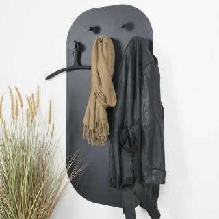 Hängegarderobe in Schwarz Stahl 115 cm hoch