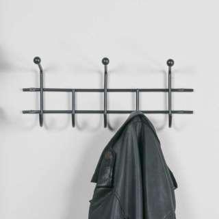 Kleiderhaken in Schwarz Stahl
