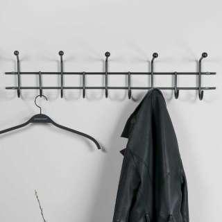 Garderobenhakenleiste in Schwarz Stahl