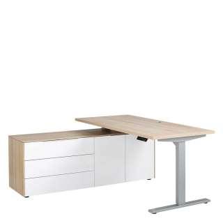 Massivholz Sideboard in Kiefer und Weiß Landhausstil