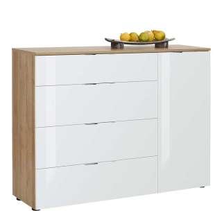 Design Anrichte mit Schubladen und Türen 120 cm breit