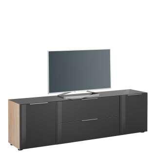 Fernseher Ständer aus Stahl und Sicherheitsglas schwenkbar