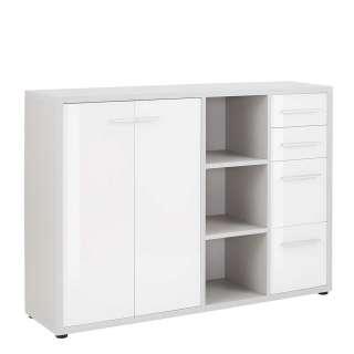 Sideboard in Weiß und Grau Büro