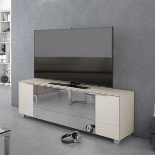 TV Lowboard mit infrarotdurchlässigem Spiegelglas versehen 60 cm hoch