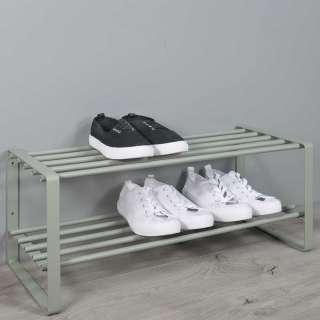 Schuhständer in Graugrün Stahl