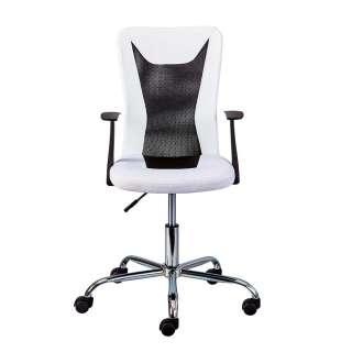 Ergonomischer Bürostuhl in Weiß und Schwarz höhenverstellbar