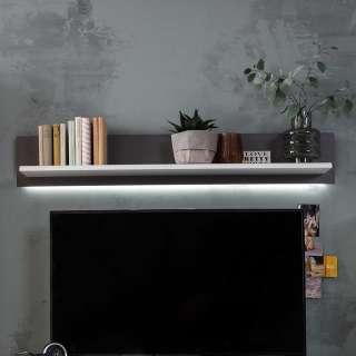 Wandboard in Weiß und Grau 150 cm breit