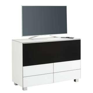 Fernsehboard in Weiß und Schwarz Akustikstoff