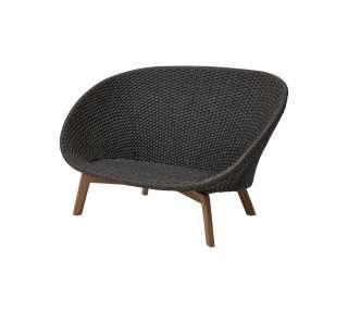 Cane-line - Peacock 2- Sitzer Sofa - Cane-line Soft Rope - dunkelgrau - outdoor