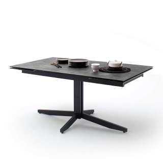 Schreibtisch in Weiß und Naturfarben 120 cm breit