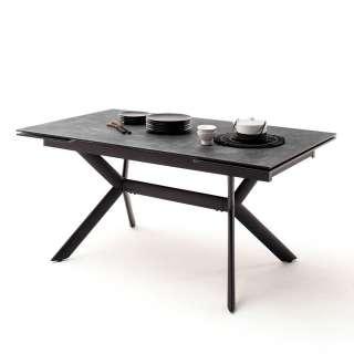 Esszimmer Tisch in Schwarz und Dunkelgrau Kopfauszug