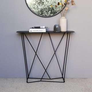 Flur Tisch in Schwarz Stahl