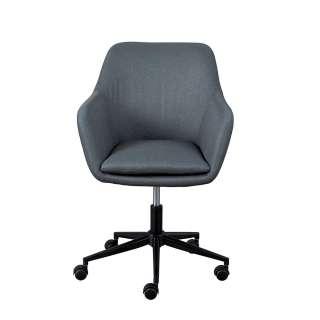 Büro Drehstuhl in Grau Webstoff Armlehnen