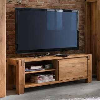 TV Board aus Eiche Massivholz Klappe