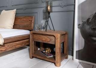 Nachttisch Sheesham 60x40x50 grau geölt BUENO #015