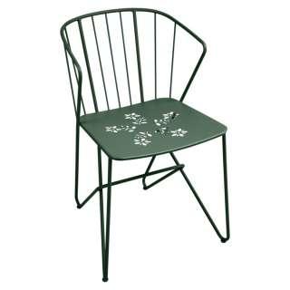 Fermob - Flower Stuhl perforiert - 02 Zederngrün - outdoor