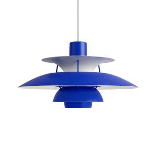 Louis Poulsen - PH 5 Monochrome Pendelleuchte - blue - indoor
