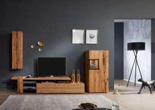 Design TV Tische in Eiche White Wash furniert 280 cm breit