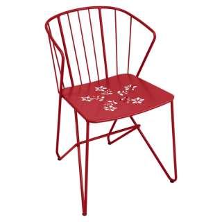 Fermob - Flower Stuhl perforiert - 67 Mohnrot - outdoor