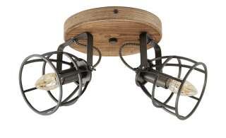 Deckenleuchte, 2-flammig, Holz/Metall ¦ holzfarben Lampen & Leuchten > Innenleuchten > Deckenleuchten - Höffner