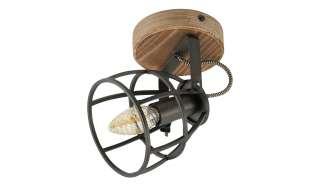 Deckenleuchte, 1-flammig, Holz/Metall ¦ schwarz Lampen & Leuchten > Innenleuchten > Deckenleuchten - Höffner