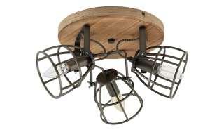 Deckenleuchte, 3-flammig, Holz/Metall ¦ holzfarben Lampen & Leuchten > Innenleuchten > Deckenleuchten - Höffner