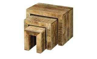Beistelltische, 3er-Set  Massa ¦ holzfarben ¦ Maße (cm): B: 35 H: 45 Tische > Beistelltische > Beistelltische ohne Rollen - Höffner