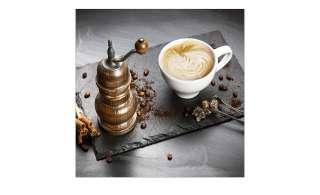 Glasbild 30x30 cm  Cafe I ¦ grau ¦ Maße (cm): B: 30 H: 30 Dekoration > Bilder & Schilder - Höffner