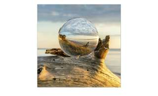 Glasbild 30x30 cm  Drop On Wood ¦ blau ¦ Maße (cm): B: 30 H: 30 Dekoration > Bilder & Schilder - Höffner