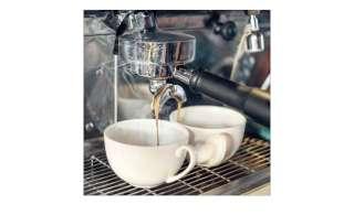 Glasbild 30x30 cm  Cafe III ¦ grau ¦ Maße (cm): B: 30 H: 30 Dekoration > Bilder & Schilder - Höffner