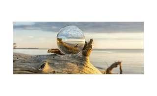 Glasbild 80x30 cm  Drop On Wood ¦ Maße (cm): B: 80 H: 30 Dekoration > Bilder & Schilder - Höffner