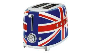 smeg Toaster  TSF01UJEU ¦ blau ¦ Edelstahl ¦ Maße (cm): B: 31 H: 19,8 T: 19,5 Elektrokleingeräte > Toaster - Höffner