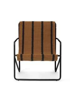 ferm LIVING - Desert Kinderstuhl - Polster: Stripe - schwarz - indoor